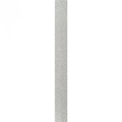 Biais replié métallisé argenté 20 mm