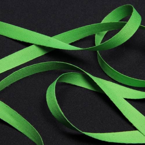 Ruban sergé vert 11 mm