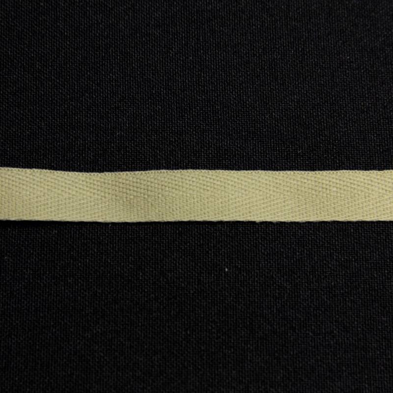 Ruban sergé vert de gris 11 mm