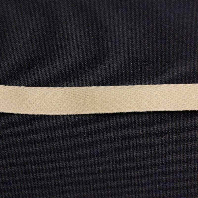 Ruban sergé beige 11 mm