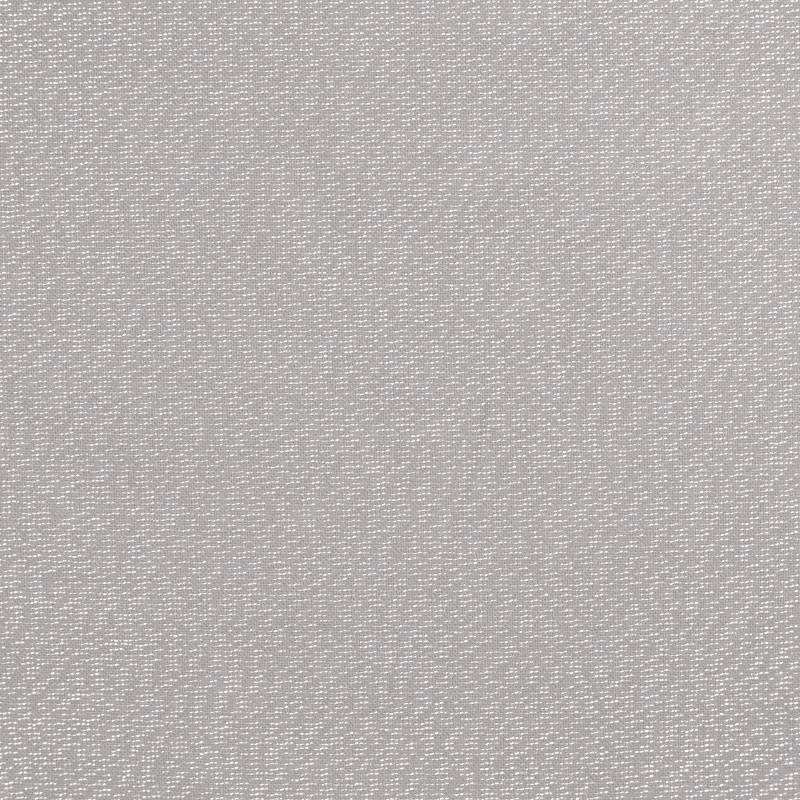 Toile polycoton gris souris fil argenté