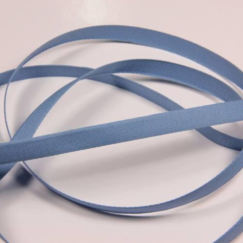 Ruban sergé bleu clair 11 mm