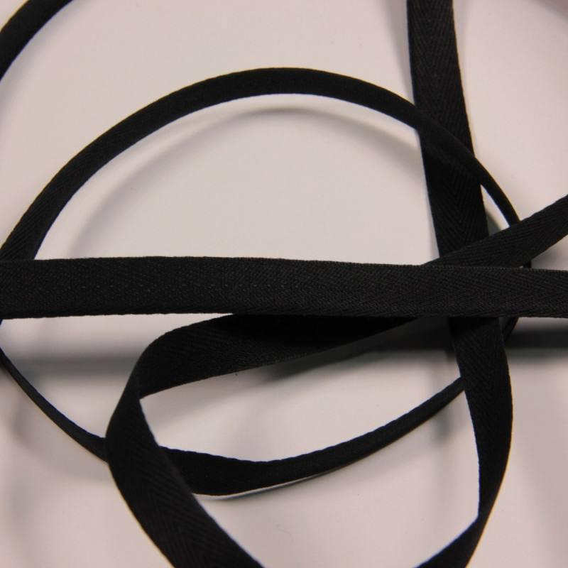 ruban serg noir 11 mm mercerie en ligne mercerie pas cher. Black Bedroom Furniture Sets. Home Design Ideas
