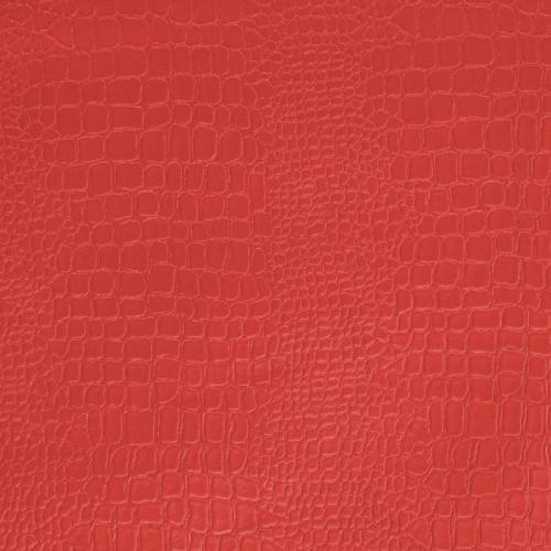 Simili cuir croco rouge