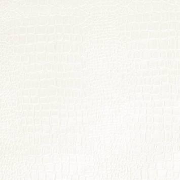Simili cuir croco blanc