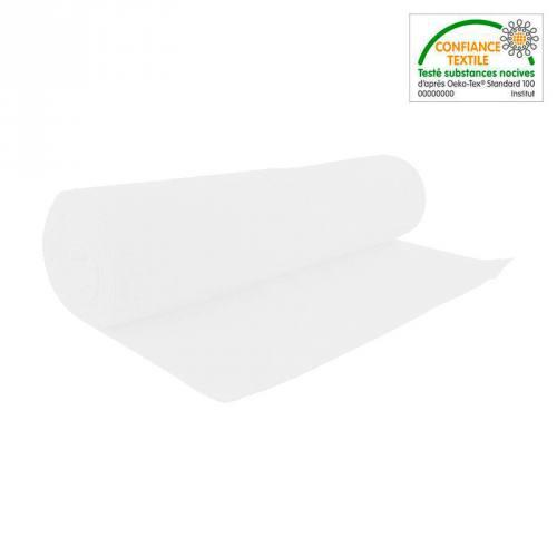 Rouleau 10m tissu tubulaire bord-côte blanc