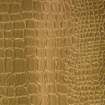 Simili cuir croco doré