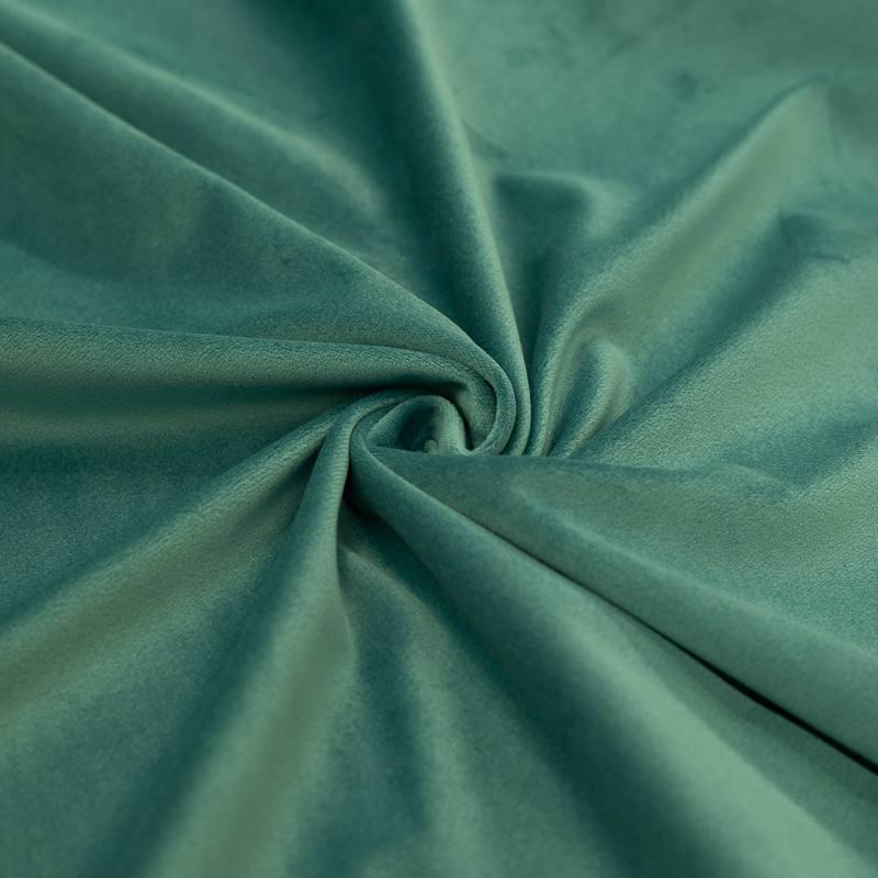 Tissu velours vert sarcelle