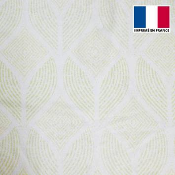 Eponge blanche imprimée pétale ethnique vert pastel