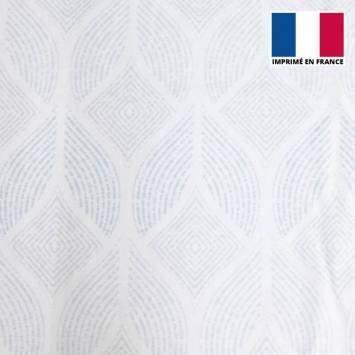 Eponge blanche imprimée pétale ethnique bleu pastel