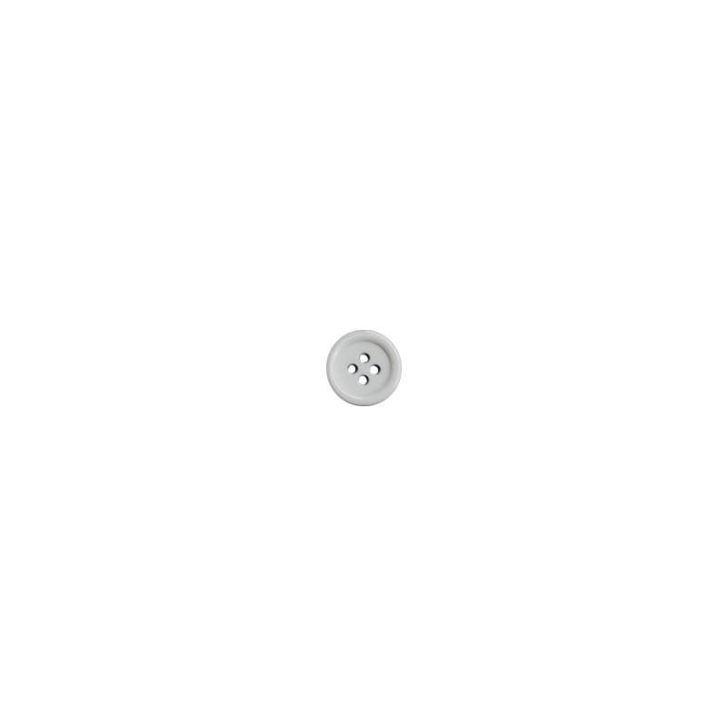 Bouton blanc rond 2 trous 15mm