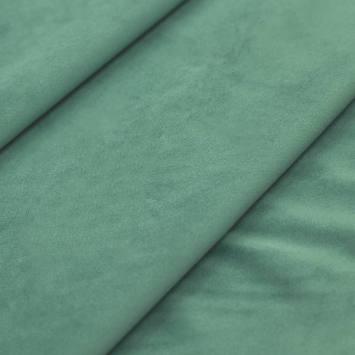 Tissu velours vert opaline