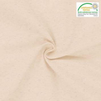 coupon - Coupon 40cm - Toile coton lin couleur naturelle oeko-tex grande largeur