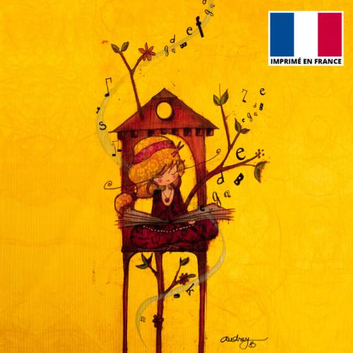 Coupon motif fille et lettres - Création Audrey Baudo