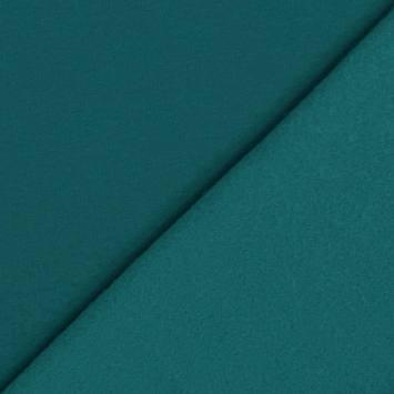 coupon - Coupon 60cm - Tissu molleton uni bleu canard
