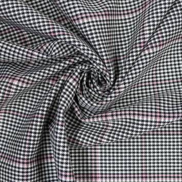 coupon - Coupon 52cm - Tissu tartan carreaux irréguliers roses