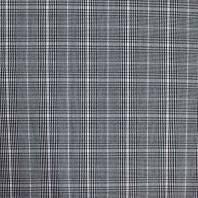 Tissu à carreaux moyen motif Prince de Galles noir et blanc