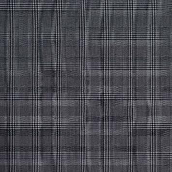 Tissu à carreaux petit motif Prince de Galles noir et blanc
