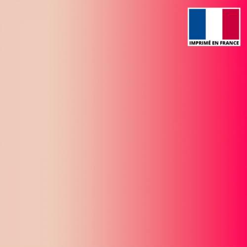 Mousseline crêpe imprimée dégradé chair et rose