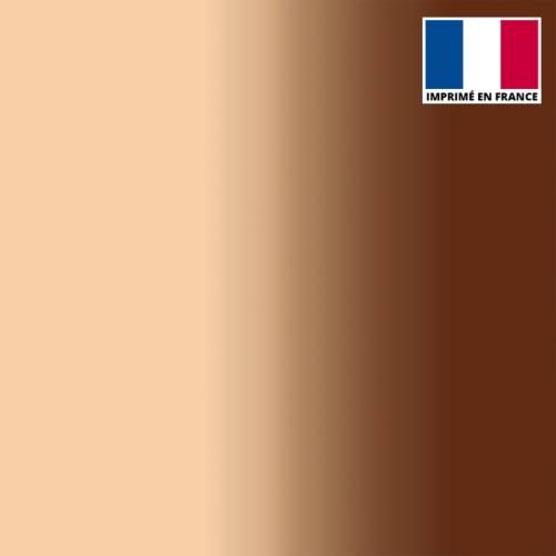 Mousseline crêpe imprimée dégradé chair et marron
