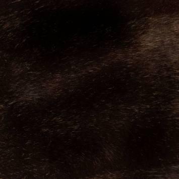 Fausse fourrure douce brun foncé