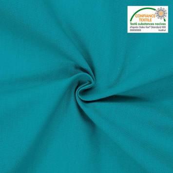 coupon - Coupon 70cm - Toile coton bleu canard grande largeur