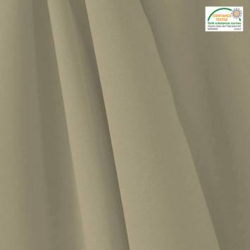 coupon - Coupon 60cm - Tissu occultant grande largeur gris perle thermique et phonique