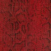 Simili cuir croco motif snake rouge et noir