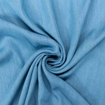 coupon - Coupon 58cm - Tissu jean lyocell bleu clair