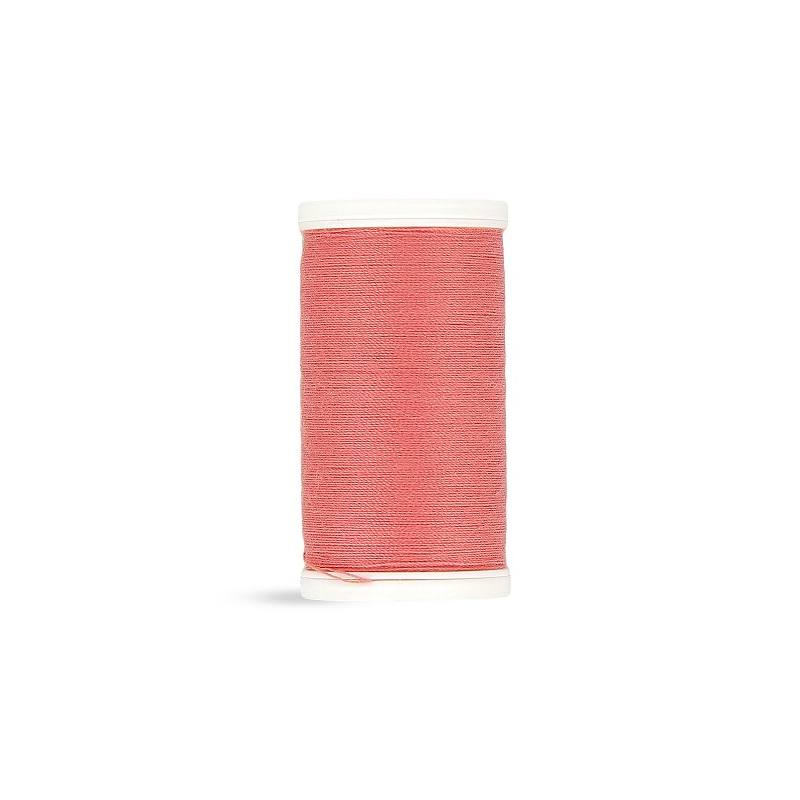 Fil polyester Laser rose saumon 2408