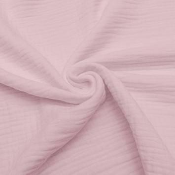 Triple gaze de coton vieux rose