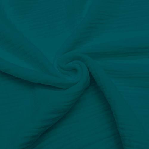 Triple gaze de coton bleu canard