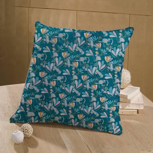 Coton bleu canard motif lorena