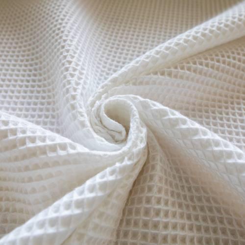 Tissu nid d'abeille blanc