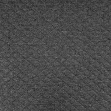 Jersey de coton matelassé gris ardoise