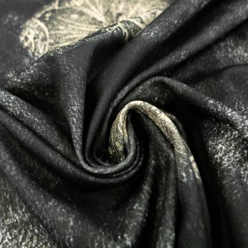 Jersey bleu noir imprimé mer et étoile crème