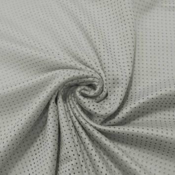Suédine micro perforée gris perle