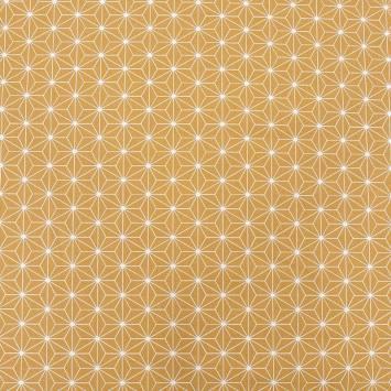 Coton ocre motif casual blanc