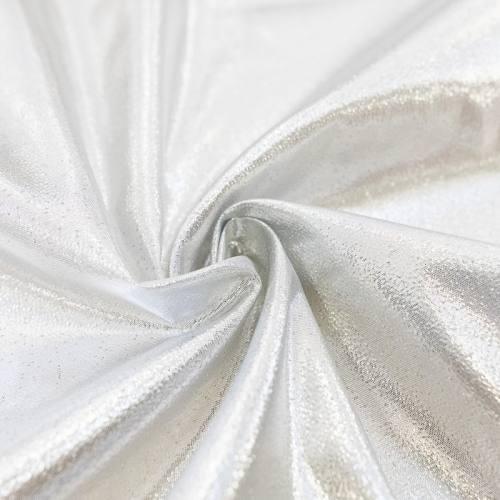 Tissu lamé argent