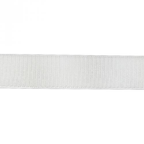 Rouleau 25m Auto-agrippant à coudre crochet 38 mm blanc