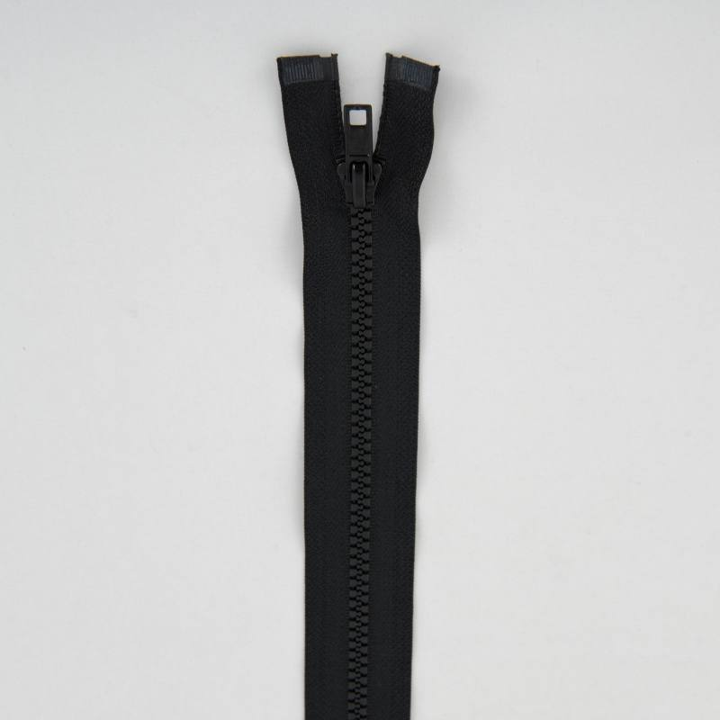 Fermeture injectée noire 25 cm séparable col 580