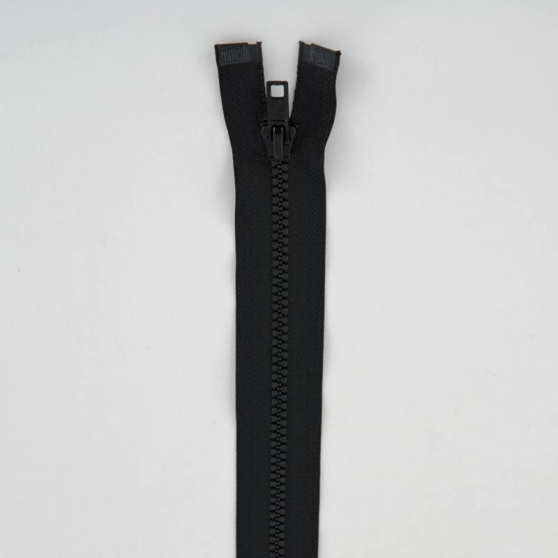 Fermeture injectée noire 35 cm séparable col 580