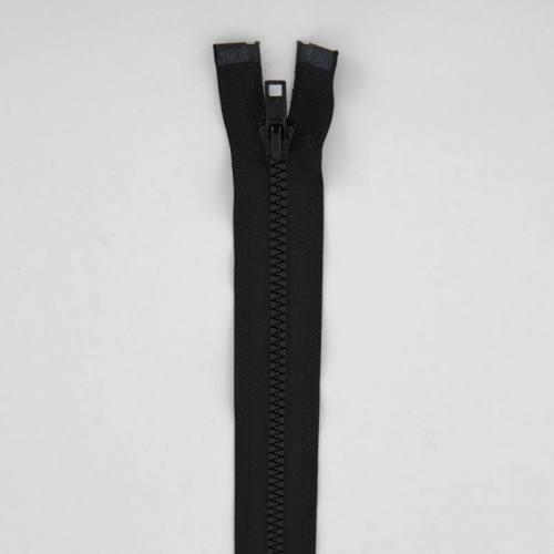 Fermeture injectée noire 80 cm séparable col 580