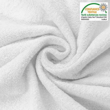 Tissu éponge blanc double face
