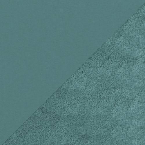 Tissu molleton bleu bondi envers polaire