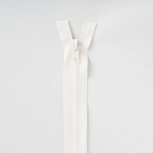 Fermeture injectée crème 55 cm séparable col 801