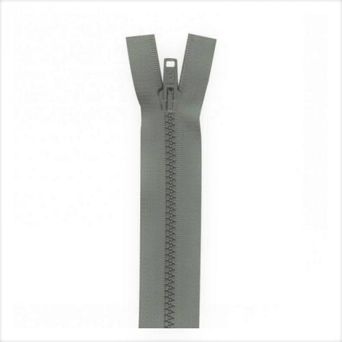 Fermeture injectée grise 65 cm séparable col 243