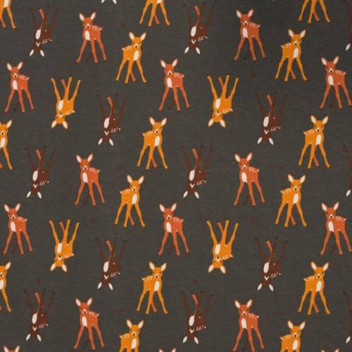 Jersey gris motif bambi marron