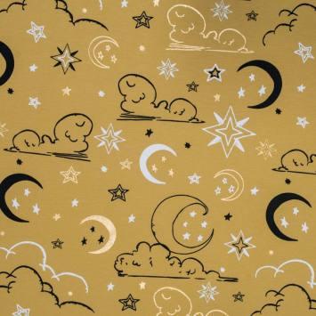 Jersey jaune miel motif étoiles