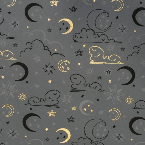Jersey gris ardoise motif étoiles